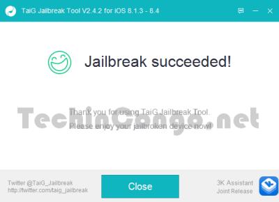 Fin Jailbreak avec TaiG 400x290 Comment jailbreaker iOS 8.1.3 à iOS 8.4 avec TaiG