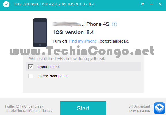 Comment jailbreaker iOS 8.1.3 à iOS 8.4 avec TaiG