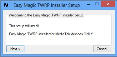 Easy Magic TWRP Installer Comment Installer TWRP recovery sur un Smartphone Android Mediatek