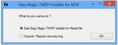 TWRP What do you want to do 400x153 Comment Installer TWRP recovery sur un Smartphone Android Mediatek