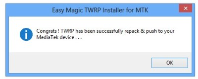 TWRP has been successfully installed
