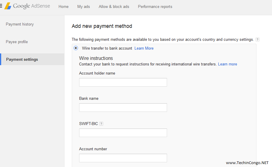 Virement Electronique Adsense Recevoir les paiements Google Adsense par virement bancaire