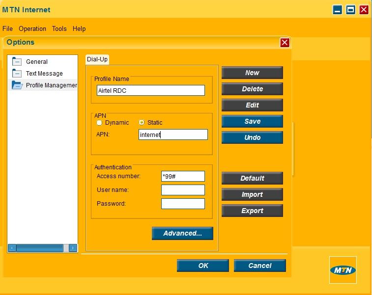 Creer un profil de connexion Comment Débloquer les modems ZTE avec DC Unlocker