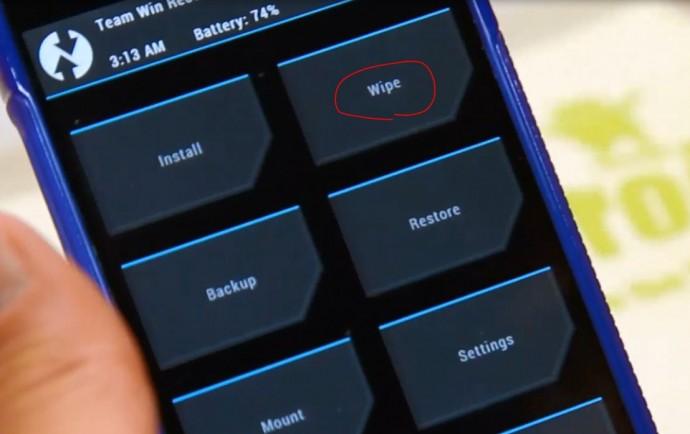 TWRP Wipe Cache Comment changer de version Android avec une ROM custom