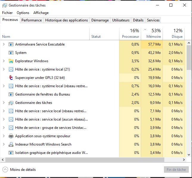 Windows 10 RAM Comment réparer l'utilisation élevée de la RAM par le processus système sur Windows 10
