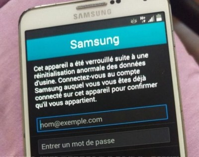 samsung account locked 400x317 Comment cracker le verrouillage de reactivation sur le Samsung Galaxy S6 G920 (Sans OTG)