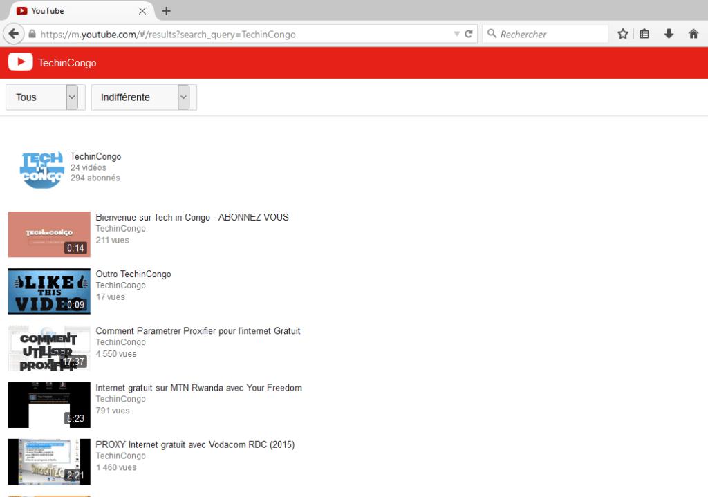 Youtube version mobile 1024x719 Comment ouvrir la version mobile d'un site sur PC