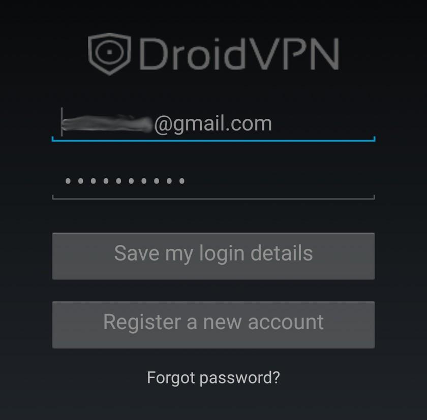 Connexion DroidVPN