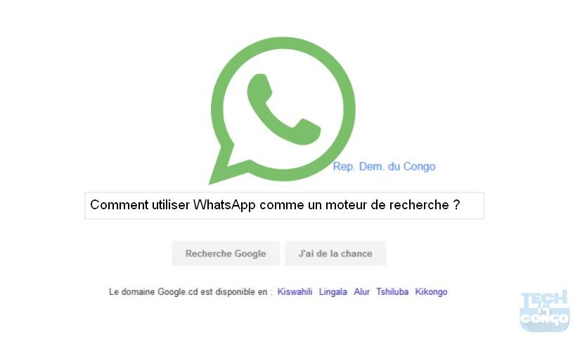 Comment utiliser whatsapp comme un moteur de recherche - Comment utiliser des couches lavables ...