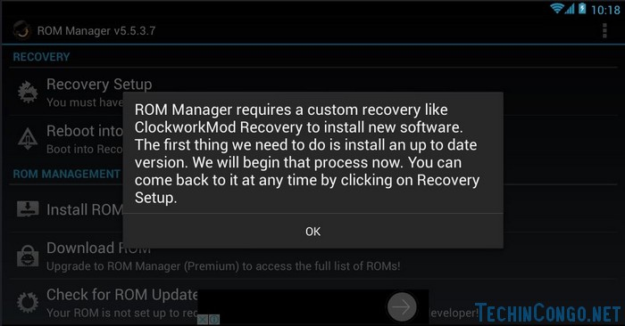 Lancer Rom Manager Comment installer le custom recovery CWM sur tout Android facilement