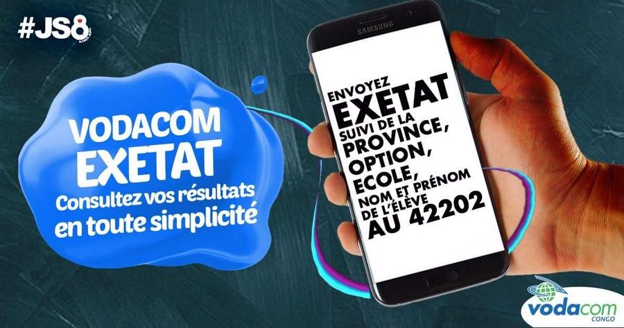 Vodacom Exetat 2016 resultat EXETAT 2018 RDC : Comment vérifier les résultats d'examen d'état 2018