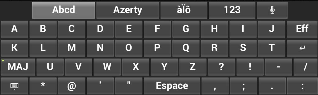 Clavier Ordre alphabetique