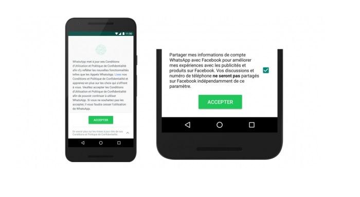 Desactiver partager infos WhatsApp Facebook