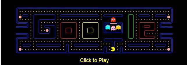 Pacman Top 5 Jeux cachés dans le moteur de recherche Google