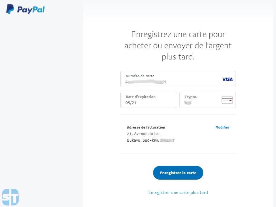 Enregistrer carte dans Paypal Comment créer un compte Paypal en Afrique gratuitement