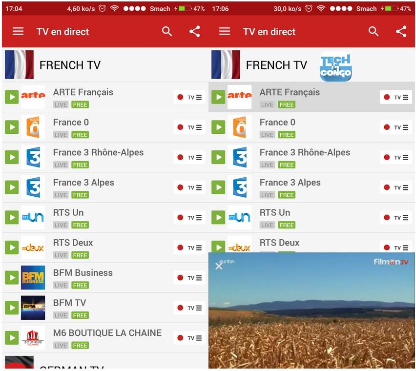Filmon Live TV Top 5 alternatives à MobDro pour regarder la TV en ligne