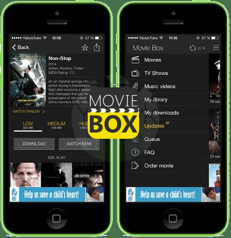 MovieBox pour iOS Télécharger ShowBox pour iOS/Android– L'appli pour regarder des films et séries télé gratuitement