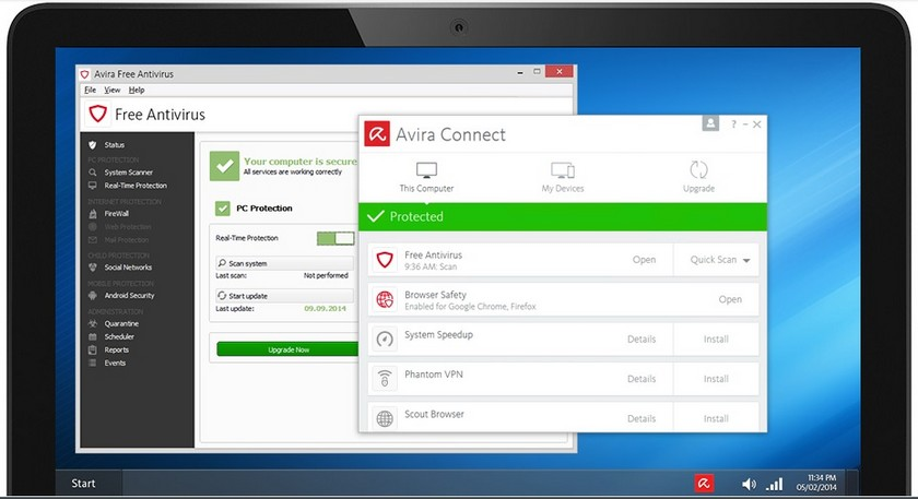 Avira Antivirus Gratuit Les 5 Meilleurs Antivirus Gratuits pour Windows et Mac - Comparatif 2019
