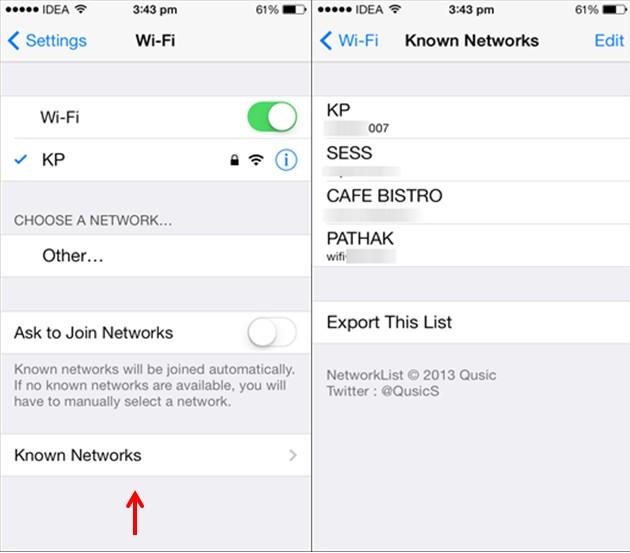 Mots de passe Wifi iPhone Comment retrouver les mots de passe Wi-Fi enregistrés sur Android/iOS