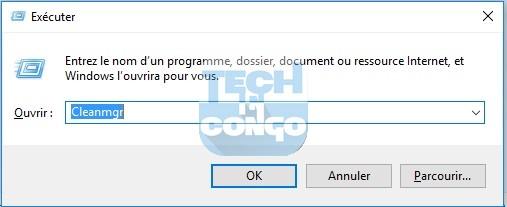 Cleanmgr Liste des commandes « exécuter » (Run) utiles pour Windows 10 / 8 /7