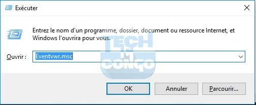 Eventvwr.msc  Liste des commandes Windows Run (Executer) utiles sur Windows