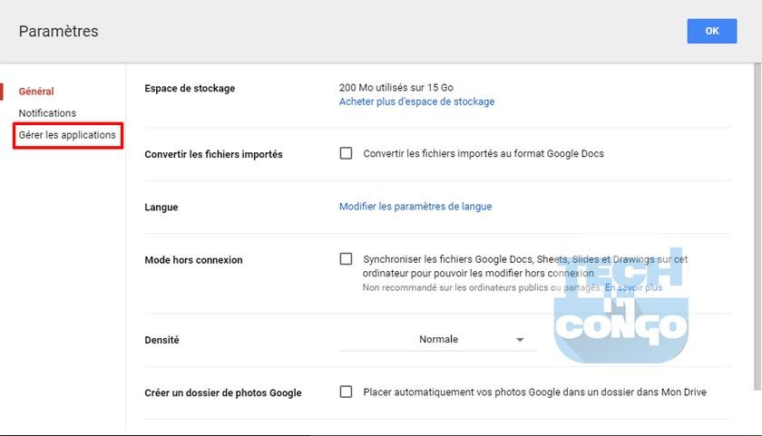 Gestion Applications Drive Comment installer et utiliser des applications dans Google Drive