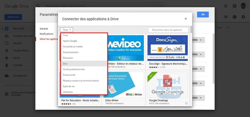 Trier applications Google Drive Comment installer et utiliser des applications dans Google Drive