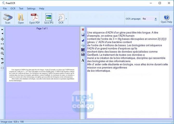 FREEOCR Top 5 logiciels OCR gratuits pour convertir un document PDF en Word ou texte