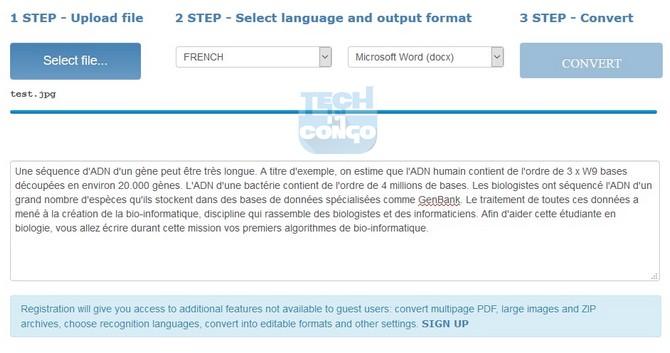 Online OCR Top 5 logiciels OCR gratuits pour convertir un document PDF en Word ou texte