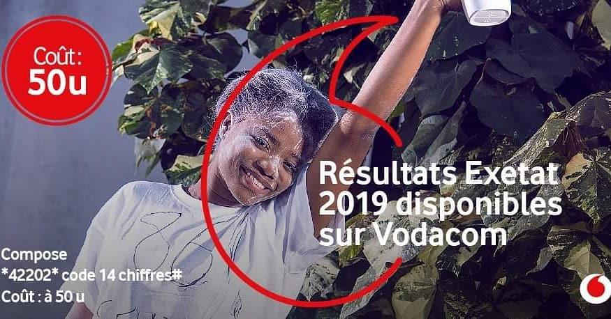 EXETAT VODACOM 2019 RÉSULTAT EXETAT 2019 – Voici Comment Vérifier + Journal Exetat 2019