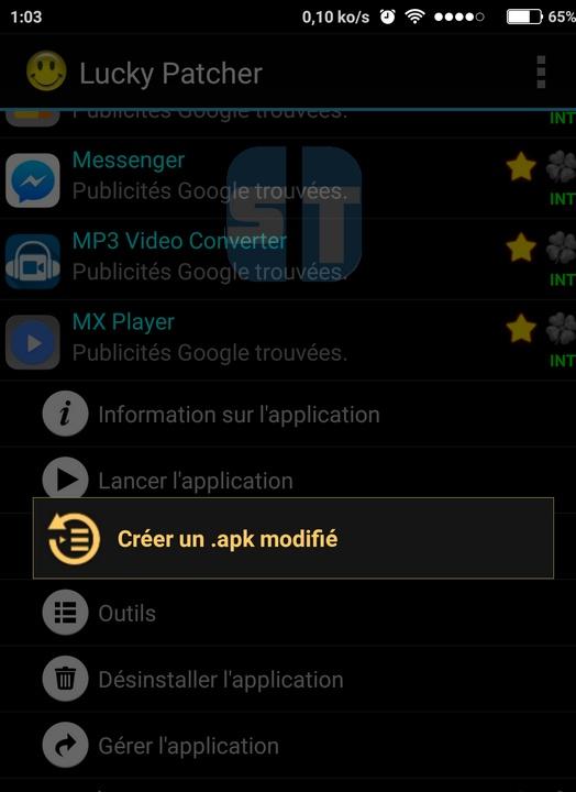 Creer apk modifie avec Lucky Patcher Comment cracker une application Android avec Lucky Patcher
