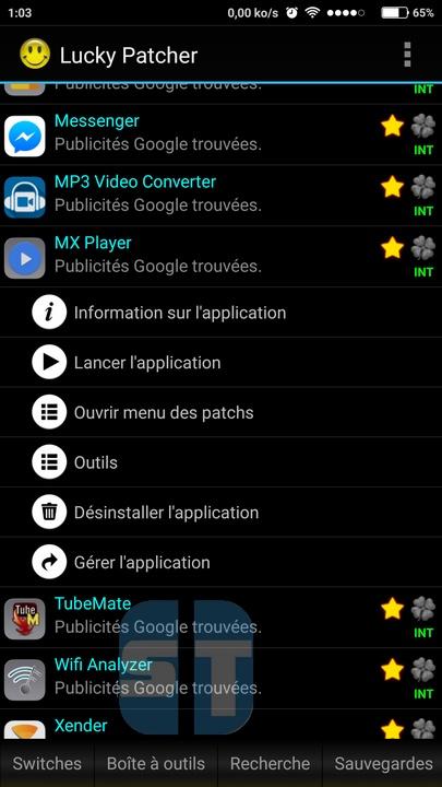 Lucky Patcher applications Comment cracker une application Android avec Lucky Patcher