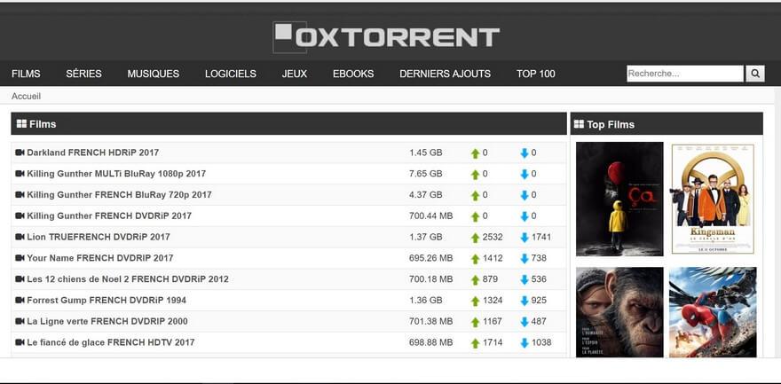 OXTorrent NexTorrent Top 10 des meilleurs sites Torrents français pour télécharger des films & séries