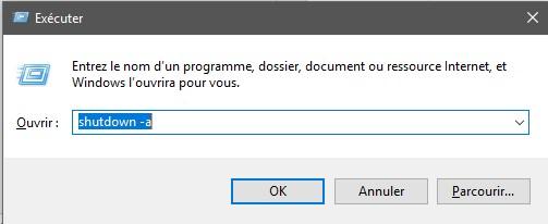 commande annuler planification Méthodes pour programmer l'arrêt ou le redémarrage d'un PC sans logiciel