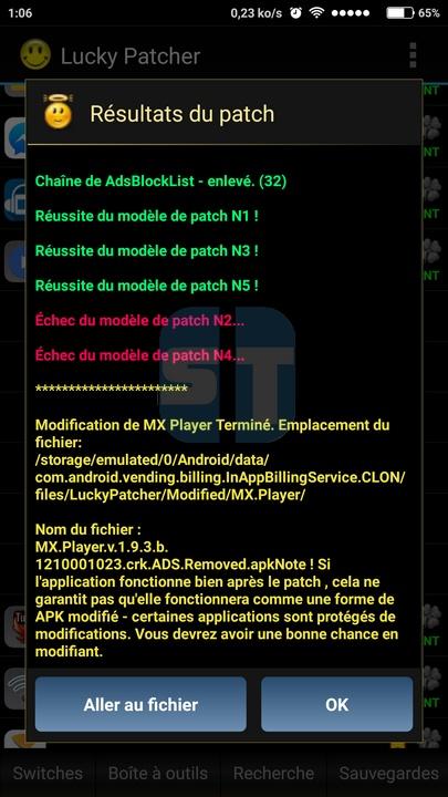 crack effectue Comment cracker une application Android avec Lucky Patcher