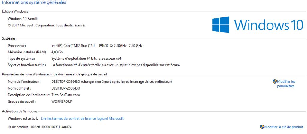 proprietes windows 10 1024x446 8 critères de choix d'un ordinateur portable en fonction de ses besoins