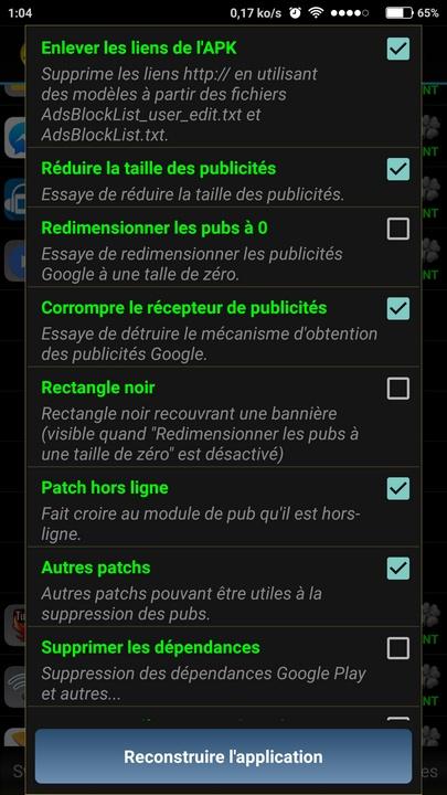 reconstruire apk avec Lucky Patcher Comment cracker une application Android avec Lucky Patcher