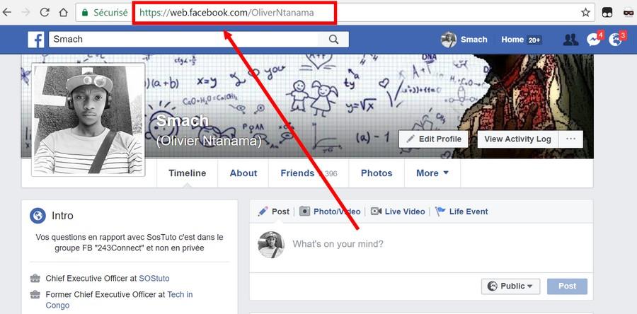 Profil Facebook de Olivier Ntanama Le code @[4:0] ne permet pas de vérifier si votre compte Facebook a été piraté