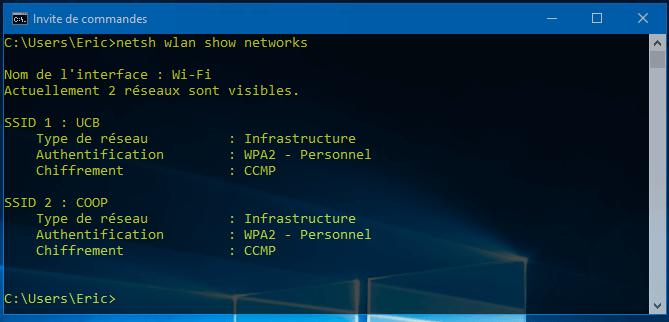 reseaux visibles Comment trouver les mots de passe WiFi enregistrés sans logiciel sous Windows