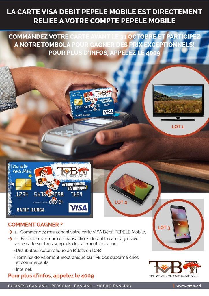 tombola visa debit pepele mobile 724x1024 Pourquoi commander la carte VISA DEBIT PEPELE mobile– 4 raisons