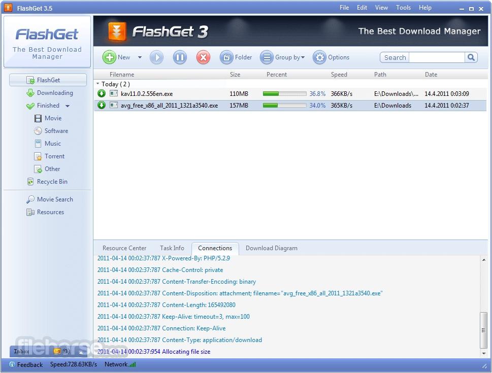 FlashGet Les Meilleures gestionnaires de téléchargement alternatives à IDM