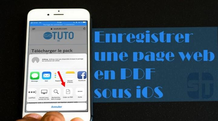 Enregistrer une page web au format PDF sur iPhone dans iOS 11