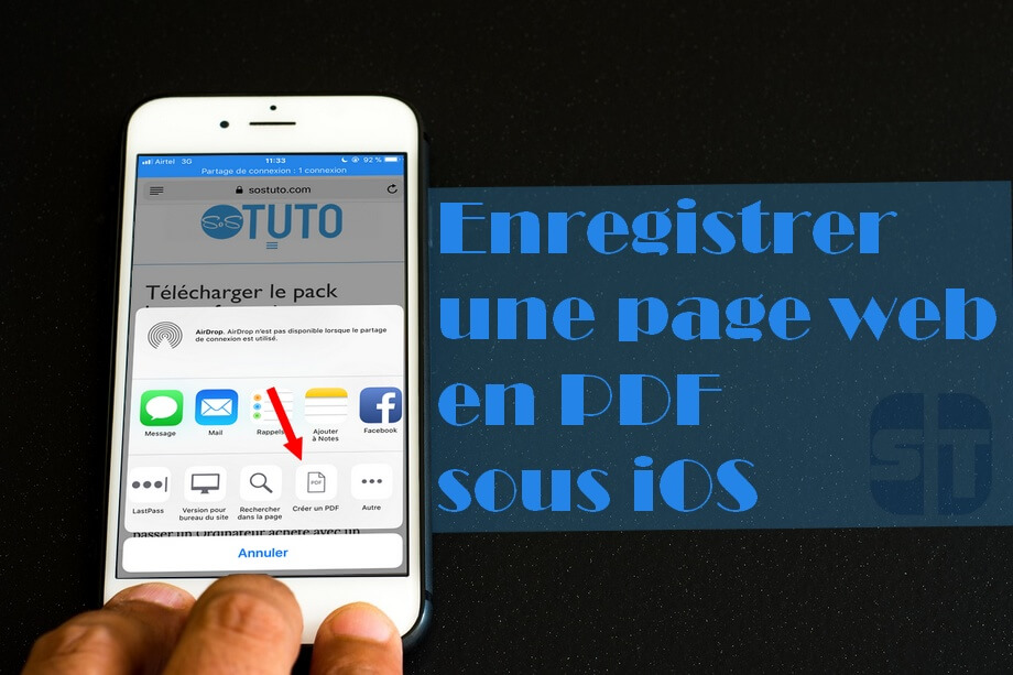 enregistrer page web pdf iphone Enregistrer une page web au format PDF sur iPhone dans iOS 11