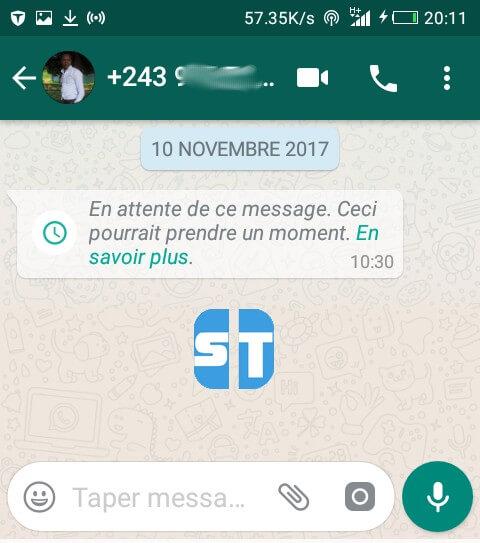probleme whatsapp en attente de ce message Fixer le problème WhatsApp «En attente de ce message. Ceci pourrait prendre un moment»