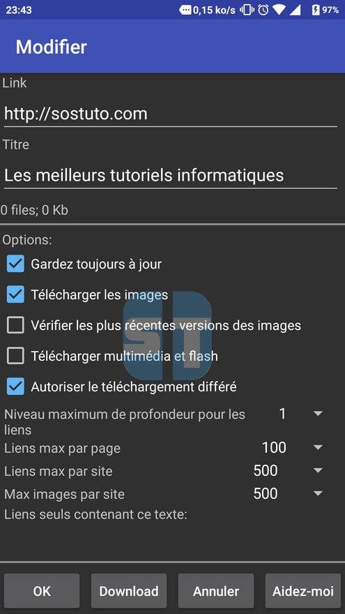 sauvegarde de sostutocom dans Offline Browser Comment enregistrer un site web pour le consulter sans connexion internet