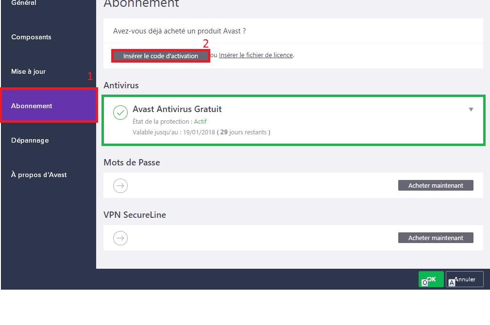 Avast1 Comment avoir une clé de licence de l'antivirus Avast gratuitement en 2019