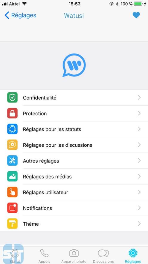 Fonctionnalités Watusi 1 Télécharger WhatsApp++ et WhatsApp Watusi pour iOS sans jailbreak