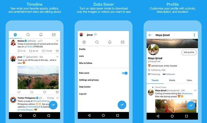 Twitter Lite 10 applications « lite » Android pour économiser l'espace de stockage et forfait mobile