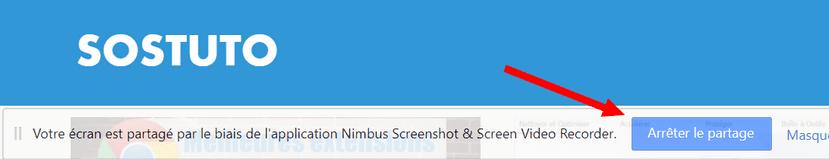 Arreter le partage de votre ecran Comment enregistrer son écran de bureau avec Google Chrome sur Windows / Mac / Linux