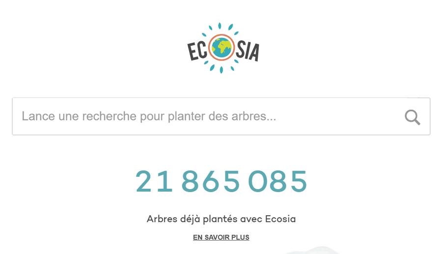 Ecosia Alternatives à Google: 7 moteurs de recherche en français inconnus du public
